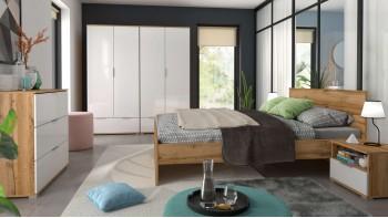 Модулна спалня евтина бял гланц