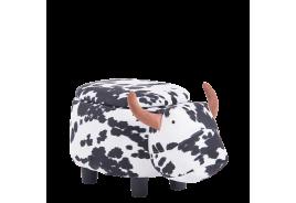 Детска табуретка с ракла - черно-бяла крава