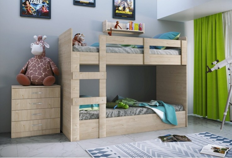 Двуетажно легло със скрин СИТИ 5015