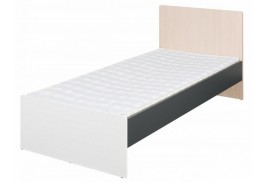 Легло 90/200 с подматрачна рамка Алекс - графит/дъб сонома/бял