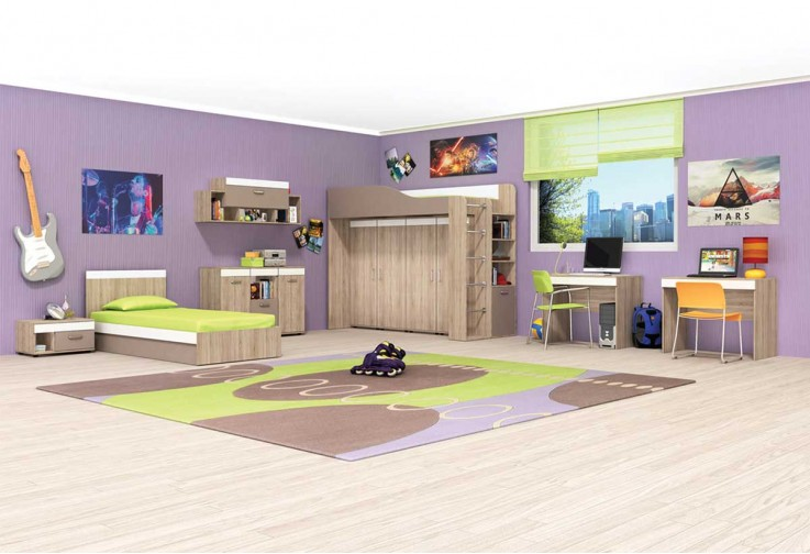 Модулна детска стая КРИС - вариант 3