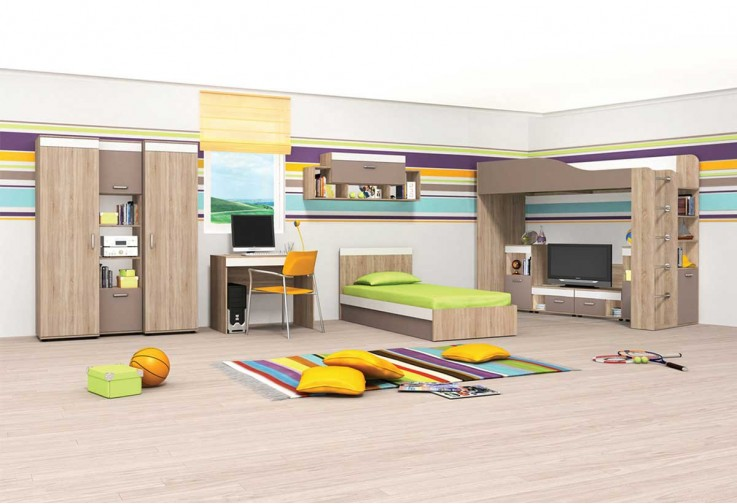 Модулна детска стая КРИС - вариант 4