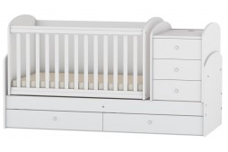 Трансформиращо се бебешко легло бяло
