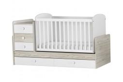 Трансформиращо се бебешко легло Гоби и Бяло