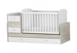 Трансформиращо се бебешко легло орех / гоби