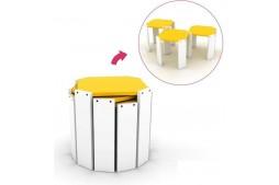 Комплект масички Hansel бяло / жълто