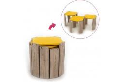 Комплект масички Hansel дъб / жълто