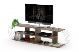 ТВ шкаф Case орех / метал