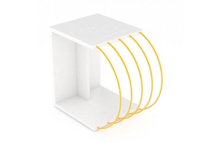 Помощна маса Case бяло / жълто
