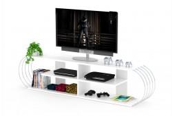 ТВ шкаф Case бял / метал