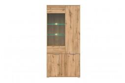 Витринен шкаф с две врати ZELE REG1W3D дъб вотан