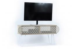 ТВ шкаф Illia №1 дъб / бяло
