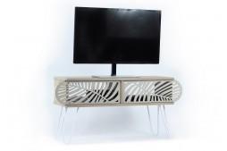 ТВ шкаф Illia №5 дъб / бяло