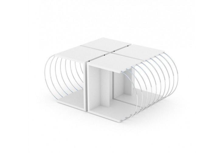 Комплект масички Case бяло / метал