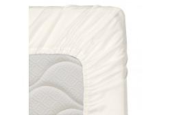 Долен чаршаф с ластик 60/120/16 см светло екрю 100% памук