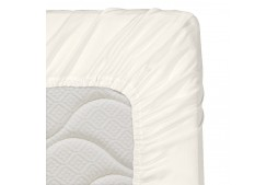 Долен чаршаф с ластик 70/140/16 см светло екрю 100% памук