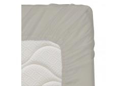 Долен чаршаф с ластик 60/120/16 см светлосиво 100% памук