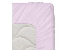 Долен чаршаф с ластик 70/140/16 см светлолилаво 100% памук