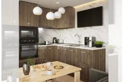 Ъглова кухня СИТИ 917 с термоплот