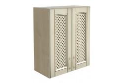 Горен шкаф VANILLA В80 с две врати с декоративна решетка