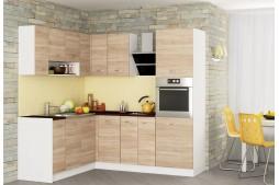 Модулна ъглова кухня Алис 21 бяло / дъб сонома