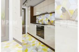 Модулна кухня Сити 887 с термоплот