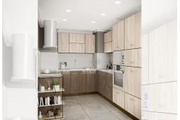 Ъглова кухня СИТИ 874 с термоплот