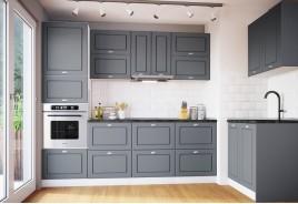 Модулна кухня Сити 930 с цял термоплот