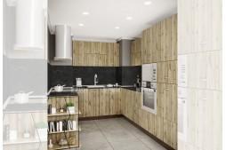 Ъглова кухня СИТИ 927 п-образна, с термоплот