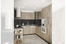 Ъглова кухня СИТИ 978 с термоплот