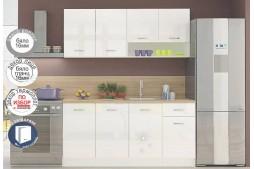 Кухня Алис 8 - Бял ГЛАНЦ