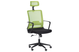 Президентски офис стол КАРМЕН 7562 - черно - зелен
