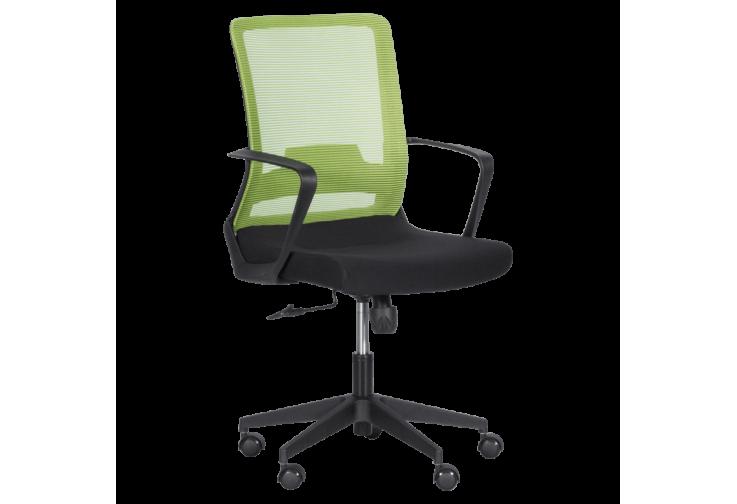 Работен офис стол КАРМЕН 7563 - черен - зелен