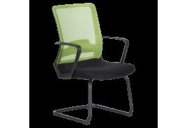 Посетителски стол КАРМЕН 7564 - черно - зелен