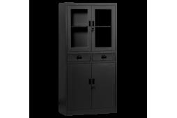 Метален шкаф КАРМЕН CR-1247 L SAND - черен