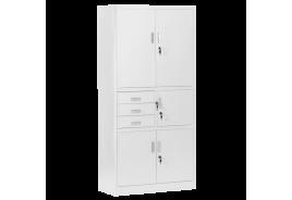 Метален шкаф КАРМЕН CR-1281 Е - сив