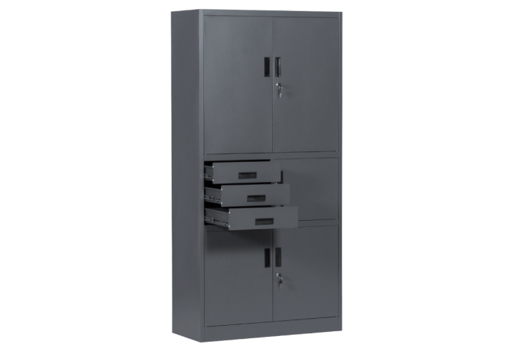 Метален шкаф КАРМЕН CR-1281 Е SAND - графит