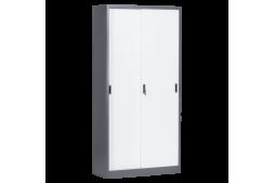 Метален шкаф КАРМЕН CR-1266 E SAND - бял - графит
