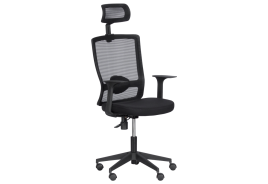 Президентски офис стол КАРМЕН 7548 - черен