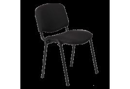 Посетителски стол КАРМЕН 1130 ЛУКС - черен