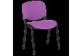 Посетителски стол КАРМЕН 1130 LUX - лилаво-черен