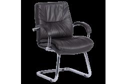 Посетителски стол PARMA - тъмно кафяв LUX