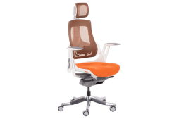 Президентски офис стол AMBRA - оранжев