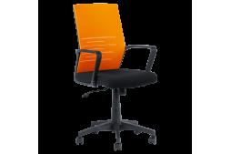 Работен офис стол КАРМЕН 7041- черен - оранжев