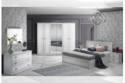 Спален комплект OLIMP бяло / сребърно