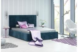 Тапицирано легло Велато Блу с 4 чекмеджета
