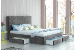 Тапицирано легло Велато Елефант с 4 чекмеджета
