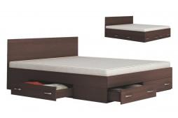 Легло с чекмеджета Аполо 10 160/200 венге амбър