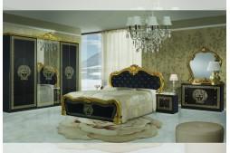 Спален комплект VILMA черно / златно