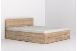 Легло с чекмеджета Аполо 10 160/200 дъб сонома